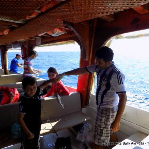 Didim Angling Trip private boat with fish finder